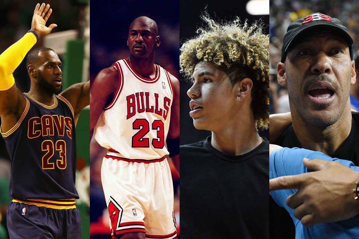 """Adentro pierna católico  Lavar Ball: """"Mi hijo y yo ganaríamos a Michael Jordan y a LeBron James"""""""