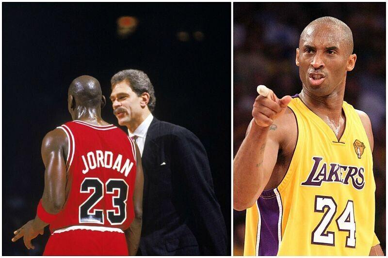 Kobe Bryant, Michael Jordan y Phil Jackson