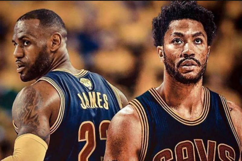 LeBron James y Derrick Rose