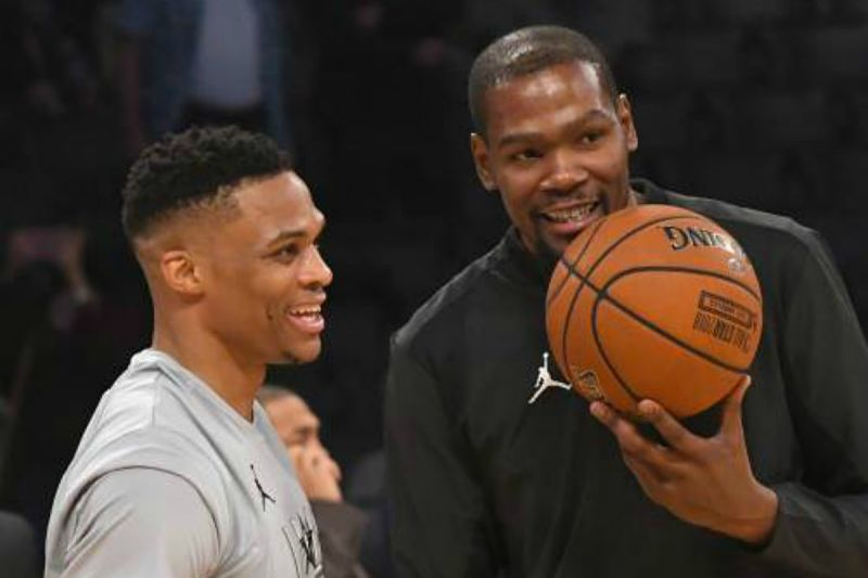 Russell Westbrook y Kevin Durant