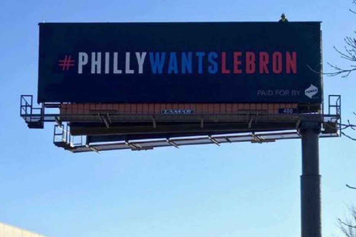 Tres anuncios en las afueras para fichar a LeBron James