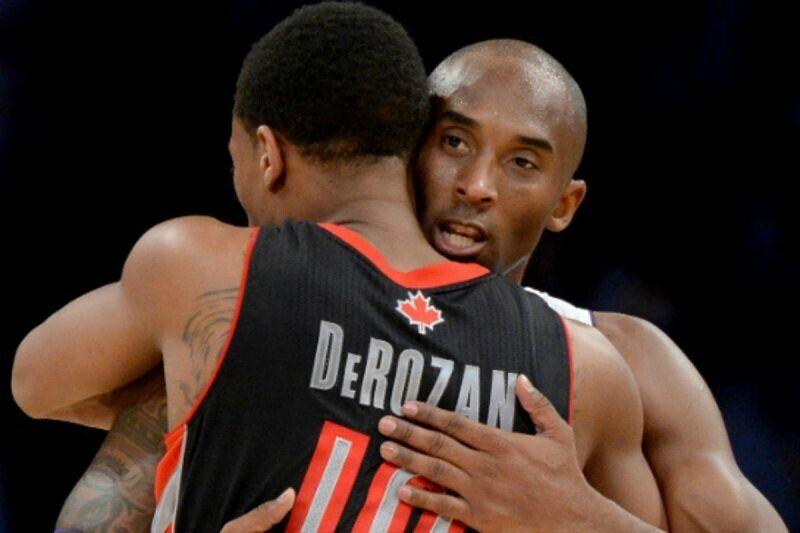 DeMar DeRozan y Kobe Bryant
